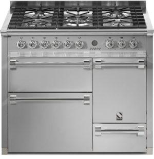 תנור בישול ואפיה משולב Steel דגם Ascot 100 / 3 Ovens Solid Door